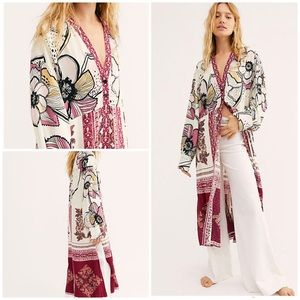 Free People C'est Moi Mixed Print Maxi Top